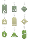 Eco recycling tags Royalty Free Stock Images