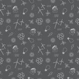 Eco relacionou a cópia sem emenda Contém símbolos para tipos diferentes de geração de eletricidade: geradores de vento, painéis s ilustração stock