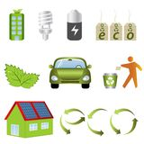 Eco related icons Stock Photography