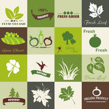 Eco related symbols. And icons Stock Illustration