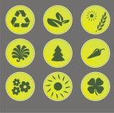 Eco rengöringsduksymboler Arkivbild
