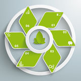 Eco Rhombus Green Fan White Rings PiAd Royalty Free Stock Photo