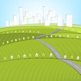 01 Eco Roads City landscape Stock Photo