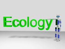 Eco Robot (Ecology) Stock Photography