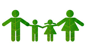 eco rodzina Zdjęcie Stock