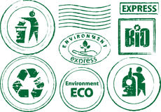 Eco rubber stamp. All elements and textures are individual objects. Vector illustration scale to any size Stock Photography