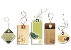 Eco réutilisent des étiquettes Photographie stock libre de droits