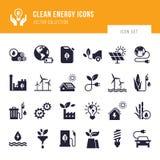 Eco samling med olika symboler p? temat av ekologi och gr?n energi vektor illustrationer