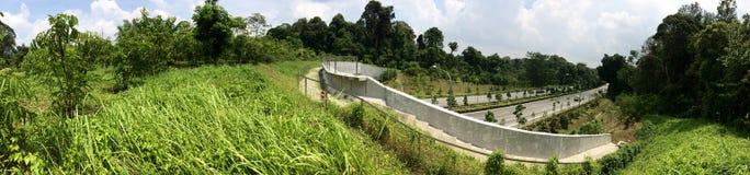 Eco-sammanlänkning bro - Singapore Arkivbilder