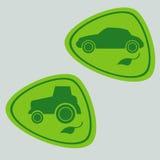 Eco samochód z życiorys paliwem Fotografia Stock