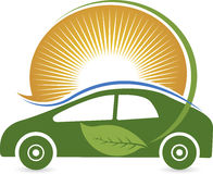 Eco samochodu logo Zdjęcia Stock