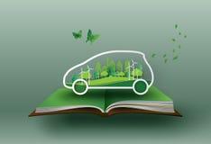Eco samochodu pojęcie royalty ilustracja