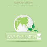 Eco sapling na ziemi Obrazy Royalty Free