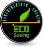 Eco saving logo. Illustration art of a Eco saving logo with isolated background Royalty Free Stock Images