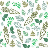 Eco seamless hand drawn pattern. Bio food, organic Royalty Free Stock Images