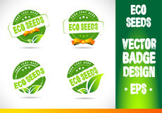Eco seeds Badge Vector Stock Photography