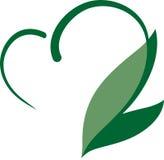 Eco serce Obrazy Stock