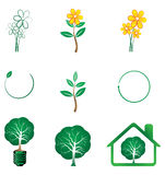 Eco series. Illustration of eco series on white background Royalty Free Stock Image