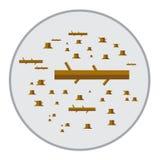 Eco sert лесопогрузчиков дерева естественное зеленое белое сохраняет вектор значения обслуживания Стоковые Фотографии RF