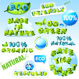 Eco set Royalty Free Stock Image