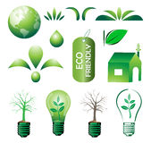 Eco set. Illustration of eco set on white background Stock Images