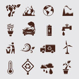 Eco set royalty free illustration