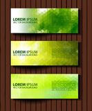 Eco set of headers with four different style. Set of green environmental vector banners Stock Photos