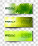 Eco set of headers with four different style. Set of green environmental vector banners Royalty Free Stock Image