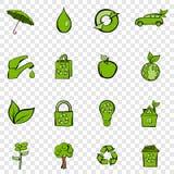Eco set icons Stock Photos
