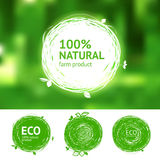 Eco set for natural products Stock Image
