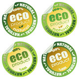 Eco set part 2. Set of eco stickers, vector illustration (8eps Royalty Free Stock Photo