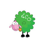 Eco sheep with flower vector illustration Royalty Free Stock Image