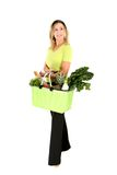 Eco shopper looking sideways Stock Photography