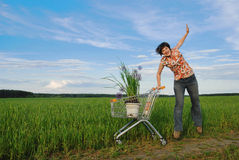 Eco shopping Stock Images