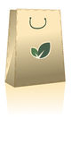 Eco shopping bag. Paper shopping bag and reflection over white background Royalty Free Stock Images