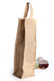 Eco Shopping bag made out of recycled Hessian sack. The eco Shopping bag made out of recycled Hessian sack Stock Photos