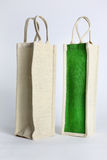 Eco Shopping bag made out of recycled Hessian sack Stock Images