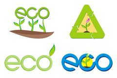Eco sign Royalty Free Stock Photos