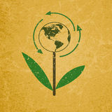 Eco sign on blank grunge recycled paper texture Royalty Free Stock Photography