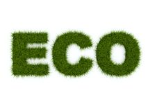 Eco sign from grass Stock Image