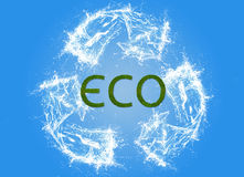 Eco sign, pollution, ecological Stock Photos