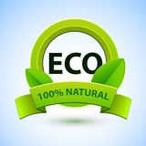 Eco sign with promotion text Stock Image