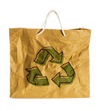 Eco sign on Wrinkled paper bag Royalty Free Stock Photo