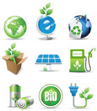 Eco signs. All elements and textures are individual objects. Vector illustration scale to any size Stock Photography