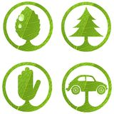 Eco signs. Set 1. stock illustration