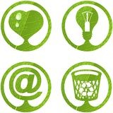 Eco signs. Set 5. Royalty Free Stock Image