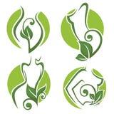 Eco skönhet royaltyfri illustrationer
