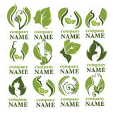 Eco skönhet stock illustrationer