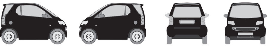 Eco small city car Stock Images