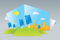 Eco solar panels Royalty Free Stock Images